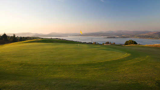 A view of the 2nd green at Port Glasgow Golf Club