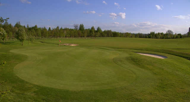 A view of the undulating green #14 at Cowglen Golf Club