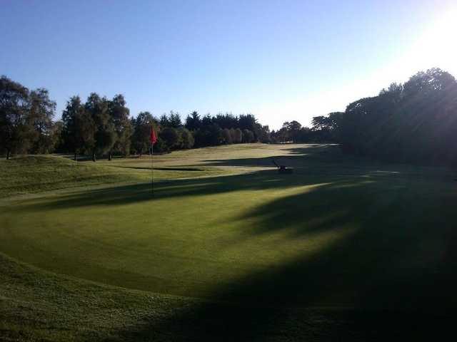 A view of green at Crow Wood Golf Club