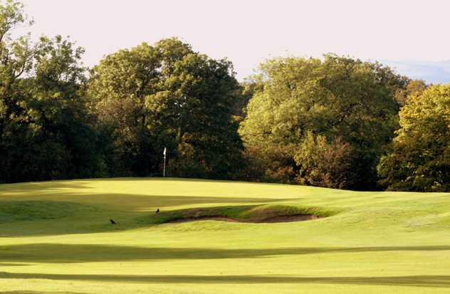 A view of hole #12 at Crow Wood Golf Club