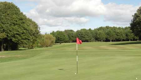 A view of a green at Prestwick St Cuthbert Golf Club