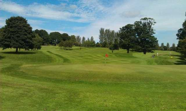 View from behind a well kept green at  Liberton Golf Club