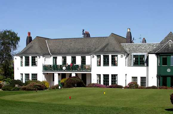 A view of the clubhouse at Murrayfield Golf Club
