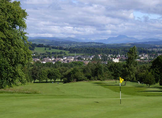 A view of a hole at Cochrane Castle Golf Club