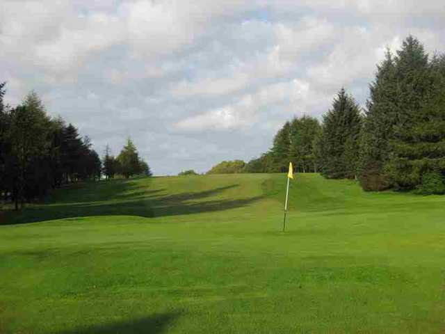 A view of the 18th green at Caldwell Golf Club