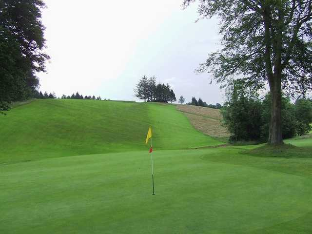 A view of the 7th green at Cathcart Castle Golf Club