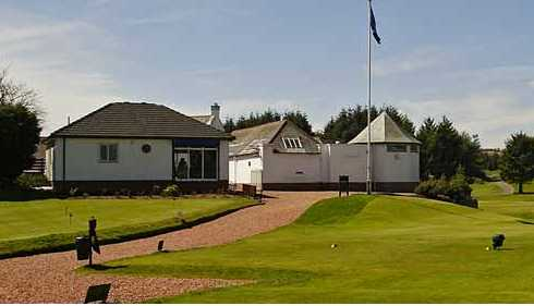 A view of the clubhouse at East Renfrewshire Golf Club