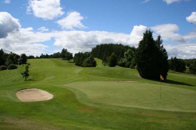 The 18th hole at The Whitecraigs Golf Club