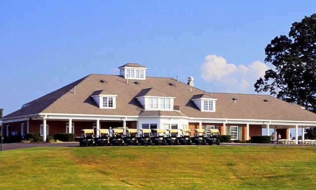 A view of the clubhouse at Oak Valley Golf Club