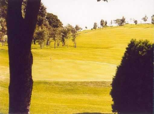 A view of the 18th hole at Clydebank and District Golf Club