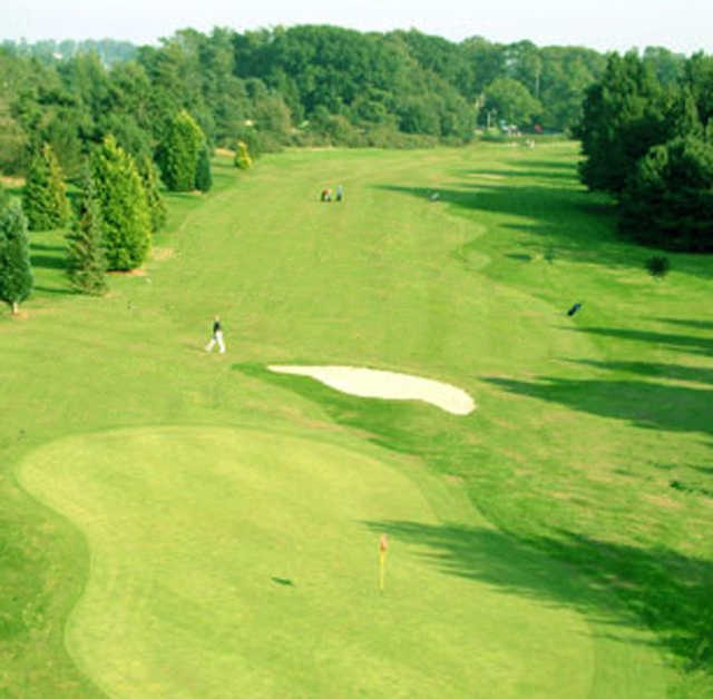 A view of green #13 at Massereene Golf Club