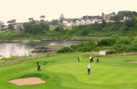 A view of a green at Carnalea Golf Club