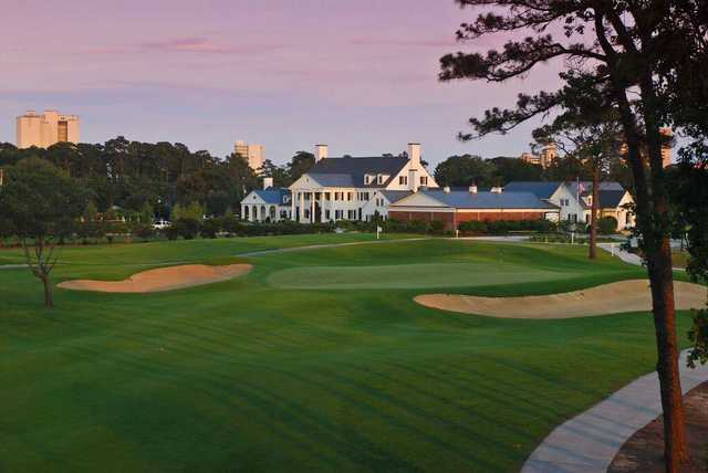 A view of the clubhouse at Pine Lakes Country Club.