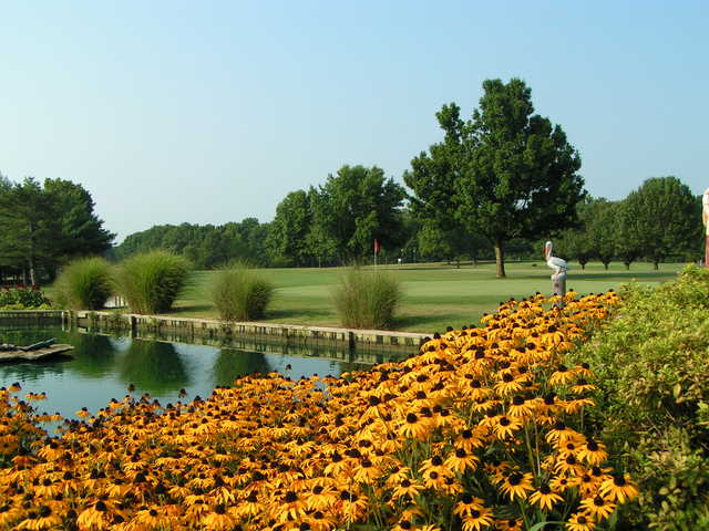 A view of the 18th hole at Crab Orchard Golf Club
