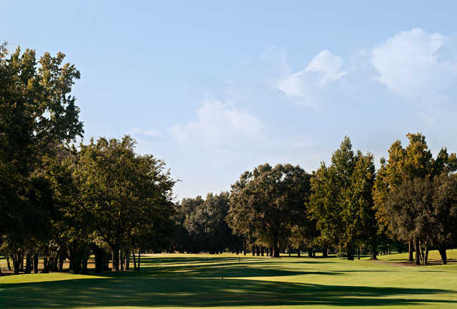 A view of fairway #6 at Lagoon Park Golf Course