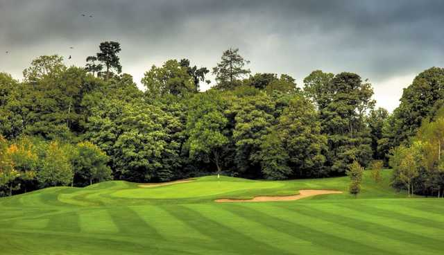 A view of the 15th green guarded by bunkers at Mount Wolseley Golf & Country Club