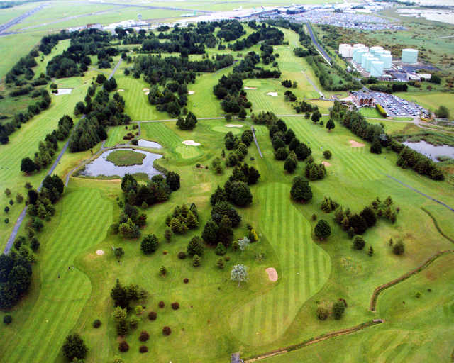 Aerial view from Shannon Golf Club