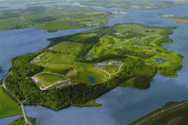 Aerial view from Fota Island Golf Club