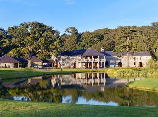 A view of the clubhouse at Fota Island Golf Club