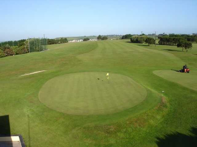A view of the 18th green at Youghal Golf Club