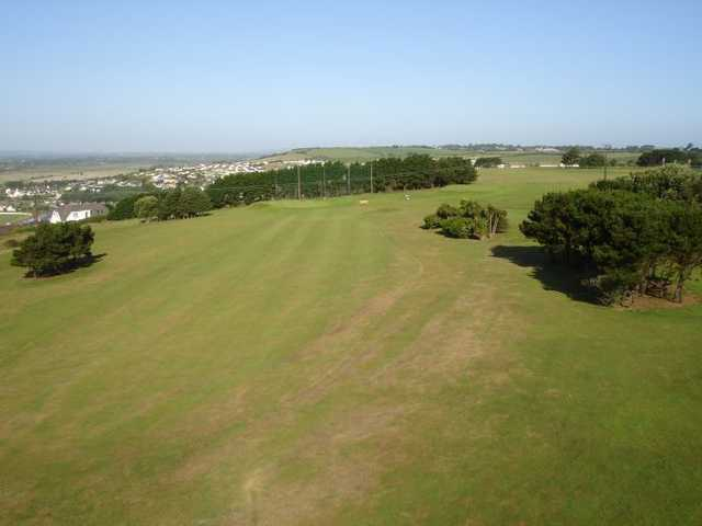 A view of fairway #1 at Youghal Golf Club