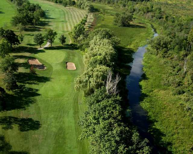 Aerial view of the 3rd hole at Willodell Golf Club of Niagara