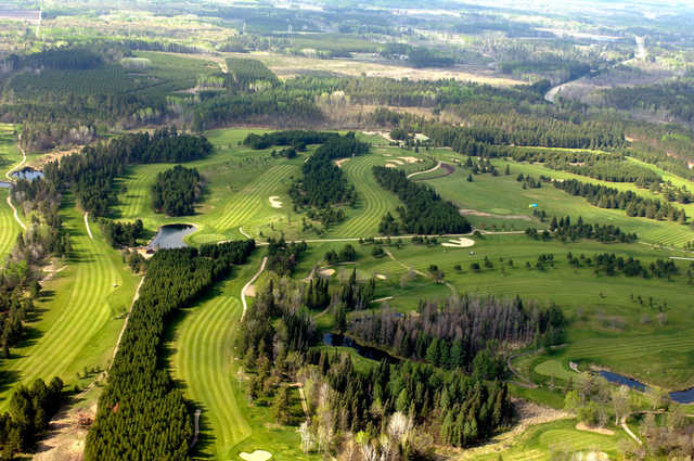 Aerial view from Blueberry Pines Golf Club