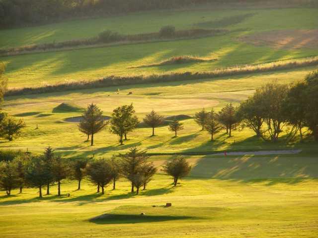 A sunny view from Aberystwyth Golf Club