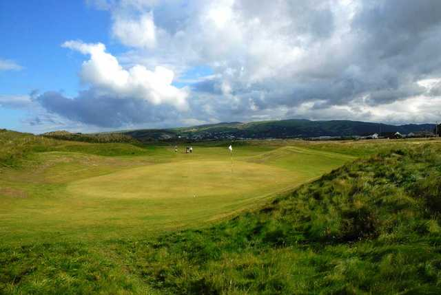 A view of the 10th hole at Borth and Ynyslas Golf Club