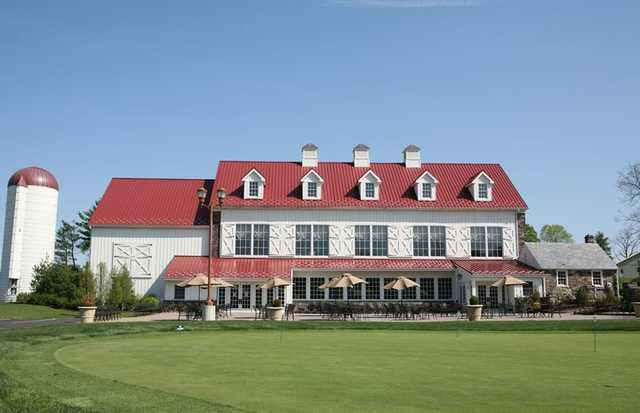 A view of the clubhouse at Bella Vista Golf Course