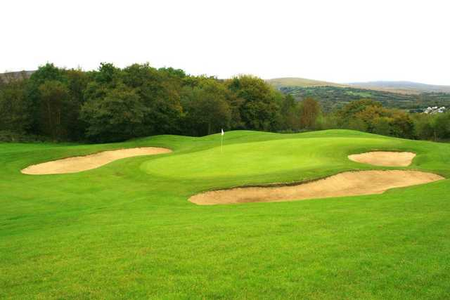 A view of green #15 at Garnant Park Golf Course