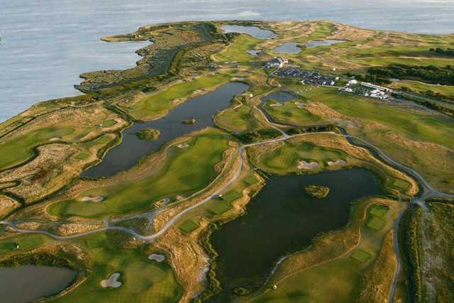 Aerial view of Machynys Peninsula Golf & Country Club