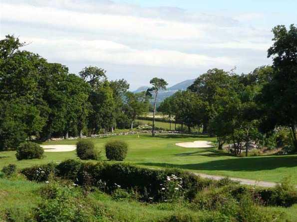 A view of the 9th hole at  Denbigh Golf Club