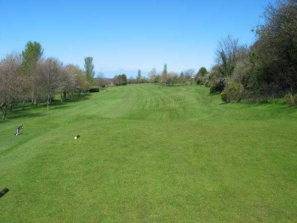 A view from tee at St. Melyd Golf Club