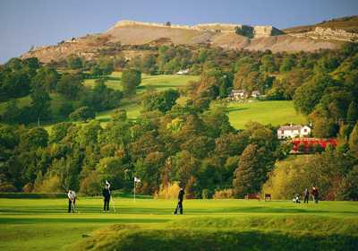 A view of the 10th green at Vale of Llangollen Golf Club