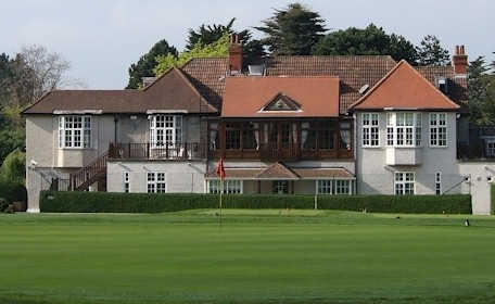A view of the clubhouse at Foxrock Golf Club