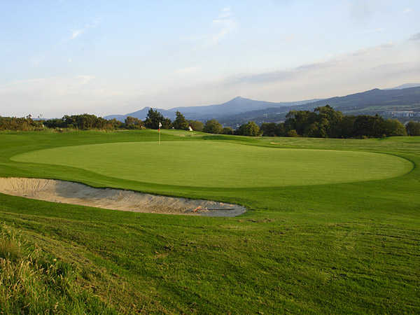 A view of green #13 at Killiney Golf Club
