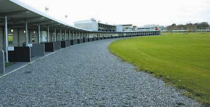 A view of the driving range at Leopardstown Golf Center