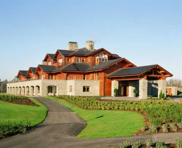 A view of the clubhouse at Luttrellstown Castle Golf and Country Club