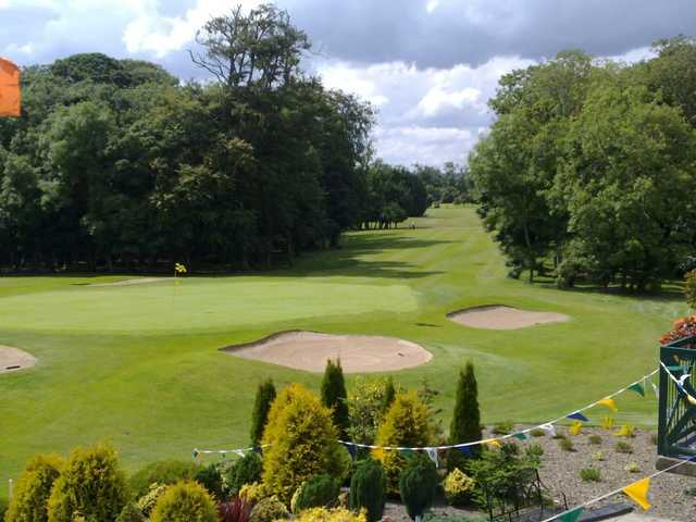 A view of the 9th green at Yellow Course from Malahide Golf Club