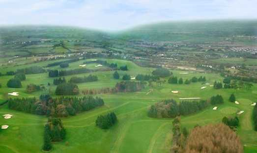 Aerial view from Slade Valley Golf Club