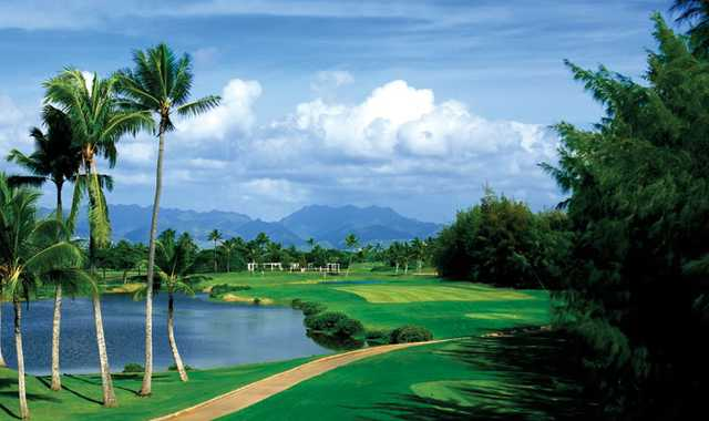 A view from tee #9 at B Nines from Hawaii Prince Golf Club