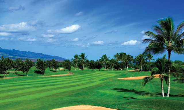 A view of fairway #2 at C Nines from Hawaii Prince Golf Club