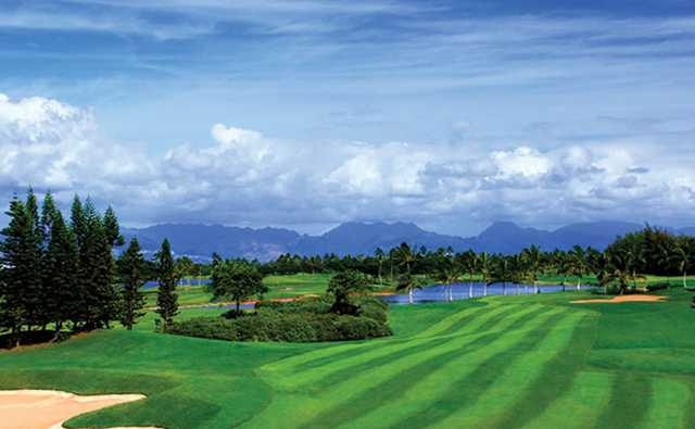 A view of the 8th fairway at B Nines from Hawaii Prince Golf Club