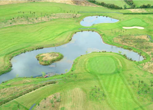Aerial view of hole #10 and #12 at  Millicent Golf and Country Club