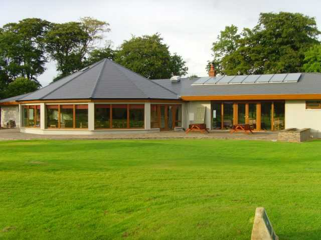 A view of the clubhouse at Newbridge Golf Club