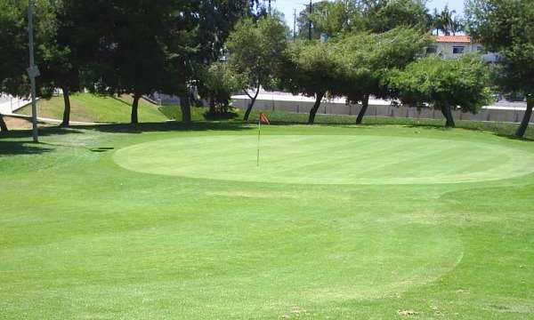 A view of the 2nd green at Newport Beach Golf Course