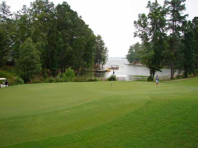 A view of the 1st green at Timberlake Golf Course