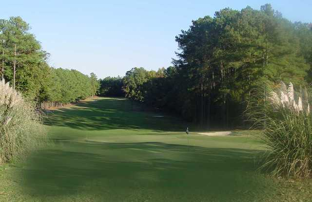 A view of green #7 at Timberlake Golf Course