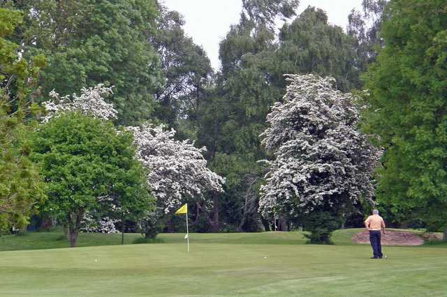 A view of the 10th green at  Padeswood and Buckley Golf Club